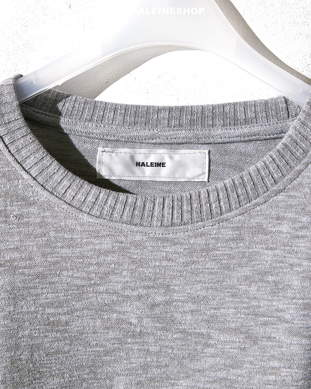 HALEINE알렌느 GREY knit t-shirts(NT027)