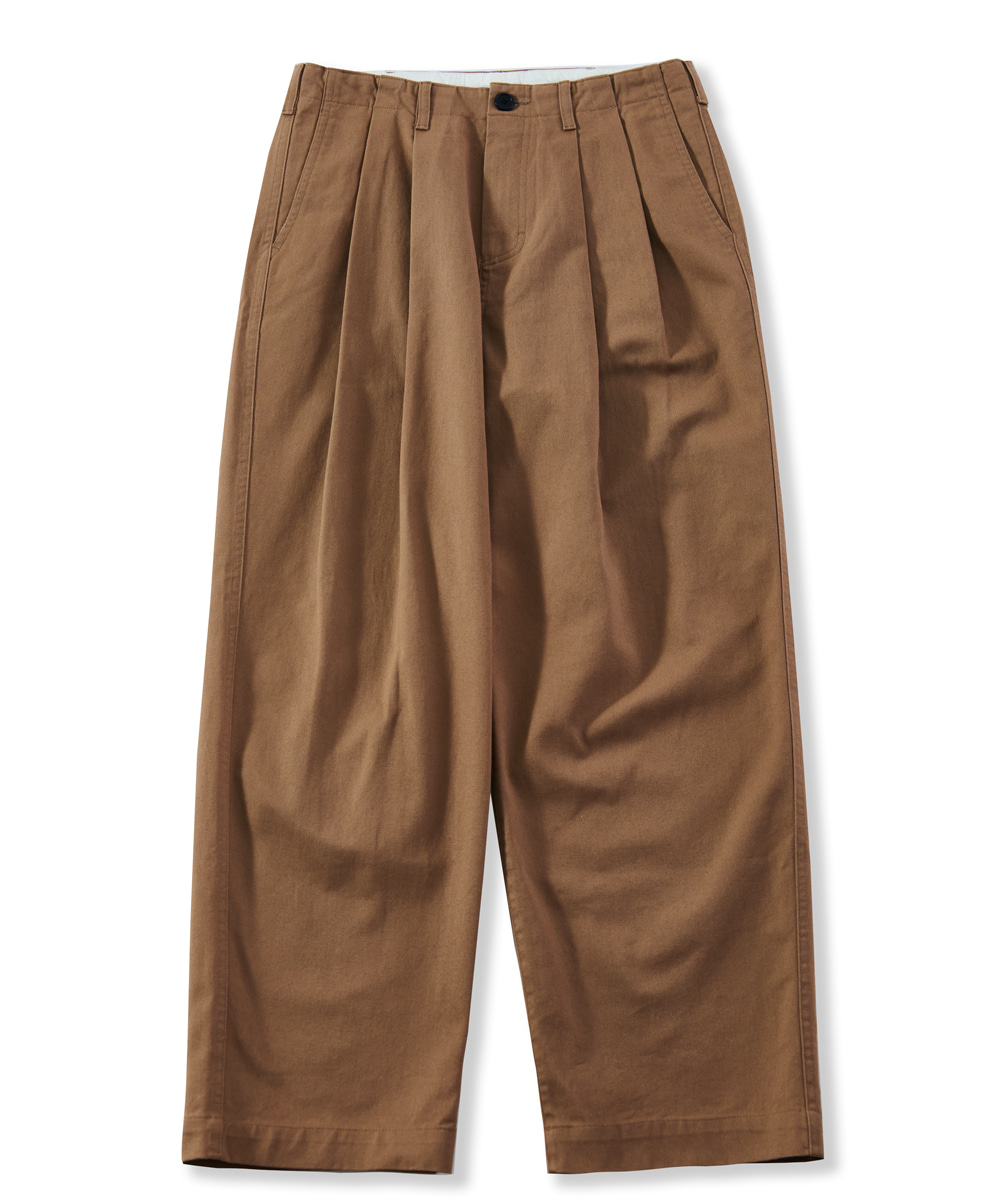 PERENN퍼렌 wide chino trousers_camel beige