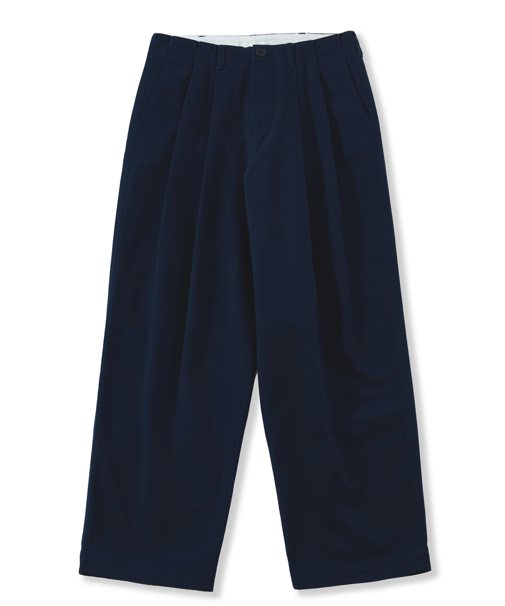 PERENN퍼렌 wide chino trousers_navy blue