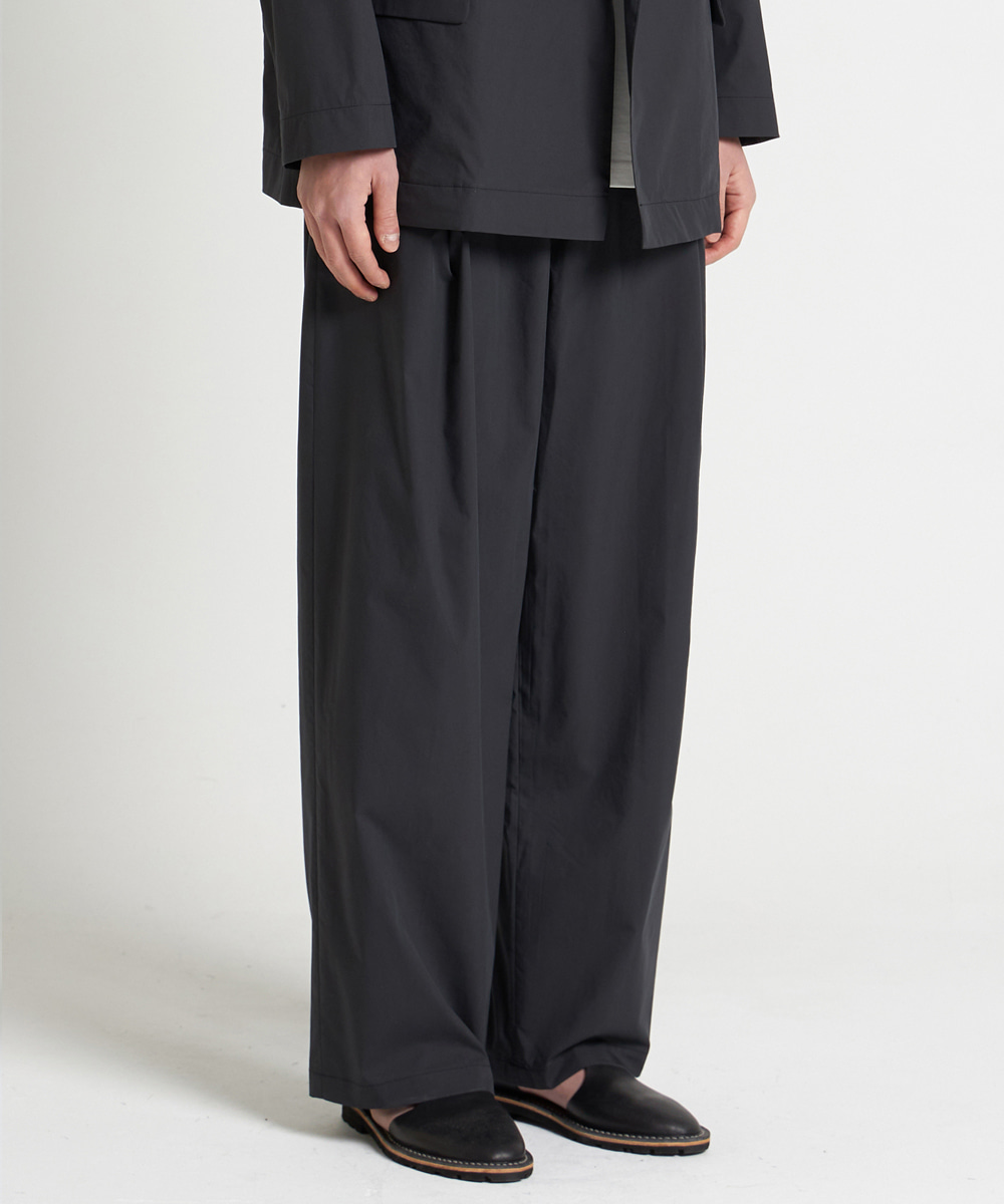 YOUTH유스랩 21SS Structured Wide Pants Black