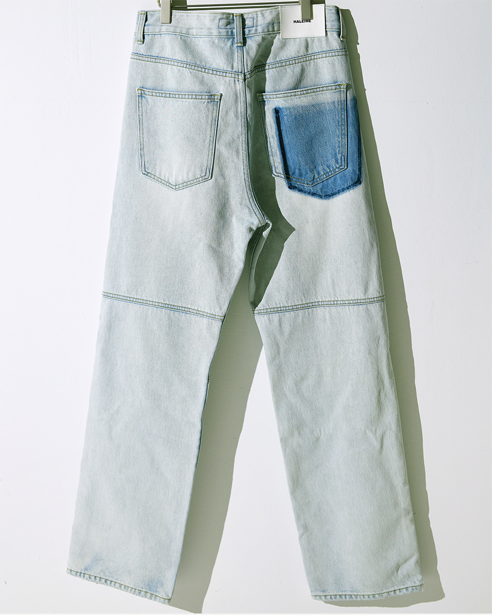 HALEINE알렌느 ICEBLUE semi wide stone washing jean(NB002)