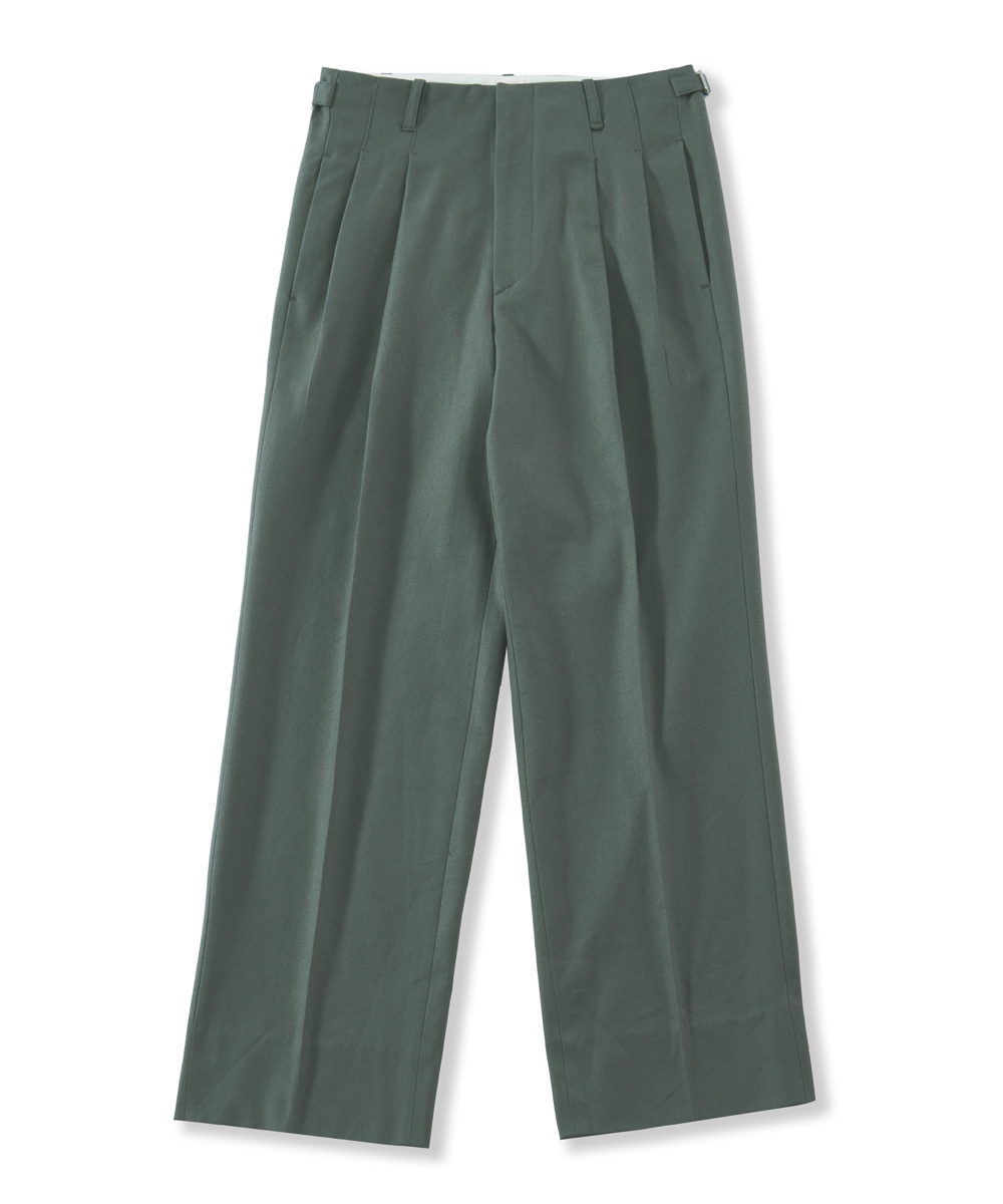 PERENN퍼렌 2pleats wide trousers_gray green