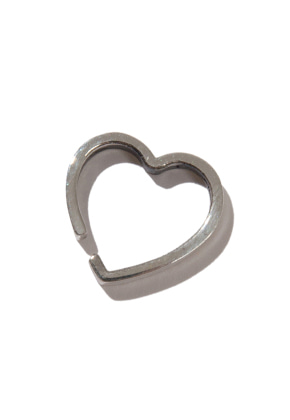 KRUCHI크루치 HEART SINGLE EAR CUFF (SILVER)