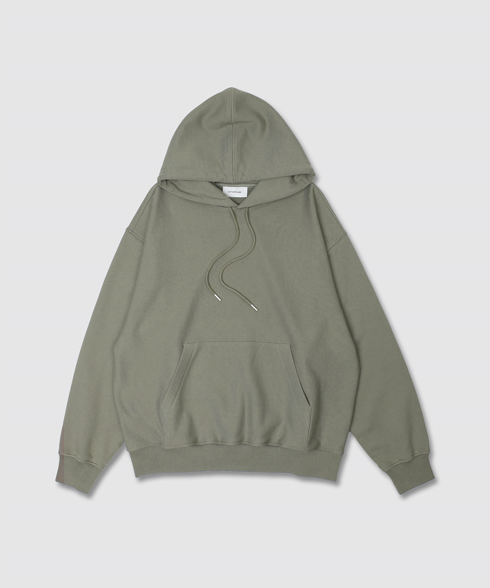 INTHERAW인더로우 ESSENTIAL SWEAT PARKA - OLIVE