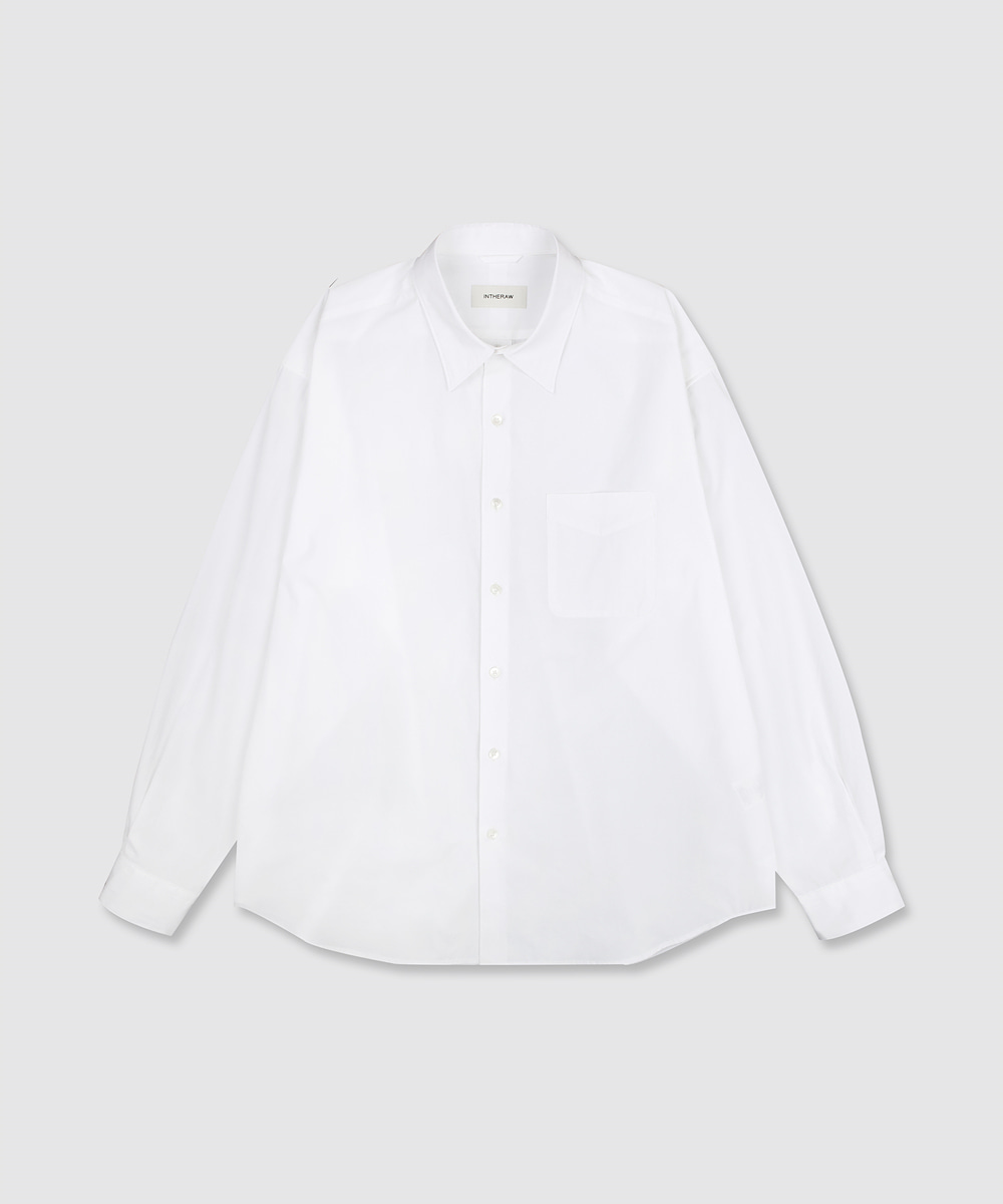 INTHERAW인더로우 COTTON RELAXED SHIRT - WHITE